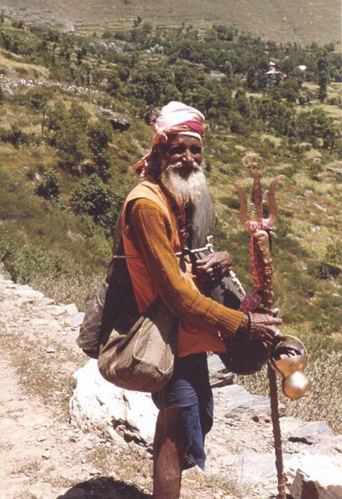 Amarnath Yatra - On the road, Kashmir, India A picturesque sadhu who did the yatra for the ninth time