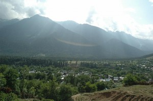 View of Pahalgam from the forest road to Baisaran